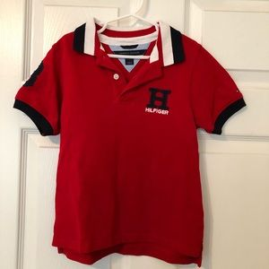 TH cranberry red polo